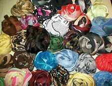 TERRIART Lot/ 50 Asst Small Square Scarves - Vintage
