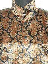 ESCADA Vintage 1980s Blouse 8 38 Silk Brown Blue Red Paisley