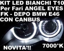 CANBUS LED T10 BIANCHI fari ANGEL EYES BMW E46 DEPO FK