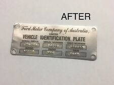 XM XP Ford Falcon Futura Fairmont Cortina ID Compliance Plate Tag Stickers
