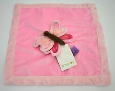 NWT AMY COE Pink Plush Mod Butterfly Lovey Security Blanket NEW
