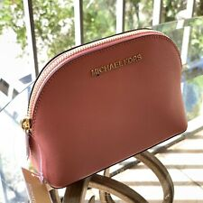 Michael Kors  Small Medium Makeup Cosmetic Leather Travel Case Pouch Bag Rose