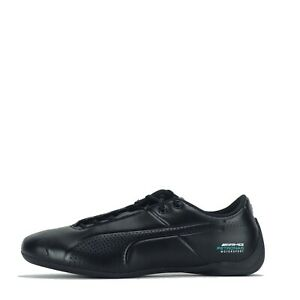 Puma Men's Mercedes AMG Petronas Future Cat Ultra Trainers Shoes Black Indigo