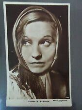 Vintage 30s Film Actress ELISABETH BERGNER RP British postcard