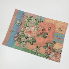 Rose Tree New Fairlane Placemats Red or Green NWT Linens Dining Polyester Rayon