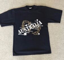 "Mens Black ""Australia"" Short Sleeve T-shirt - Size S"
