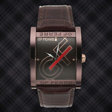 GF Ferre Repeating Logo Mens Dial Watch ( Available with Black or Brown dial )