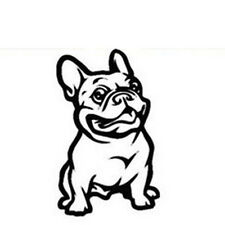 White Strong Cars Stickers Vinyl Sticker French Bulldog Dog Decal Custom