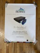 Vintage 2004 PlayStation PS2 Final Fantasy XI ToysRus Store Display Sign Poster