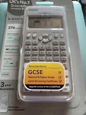 Calculadora Científica Casio FX-83GTX Blanco Dual alimentado con Slide-On tapa dura