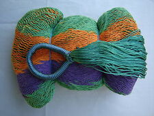 MAYAN HAMMOCK  2 Meters Wide - MULTICOLORED WOVEN - Holds 300Lbs+ FREE ROPES*#FA