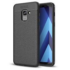 Samsung Galaxy A8 2018 Schutz Hülle Handy Tasche Silikon Case Back Slim Cover