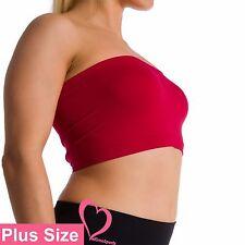 Plus Size Seamless Strapless Bandeau Bra Tube Top Sports Bra Yoga XL 1X 2X 3X 4X
