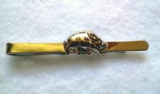 Hunters Theme Tie Bar Silver Tone Wild Boar-Made In Czech