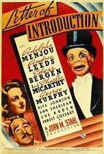 LETTER OF INTRODUCTION Movie POSTER 27x40 Adolphe Menjou Andrea Leeds George