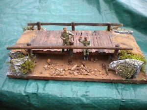 SCRATCH BUILT WAR DIORAMA.BRIDGE OVER DRY RIVER BED,1/35 - 172 SCALE.