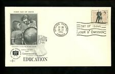 Postal History Canada Fdc #396 Rose Craft Education 1962