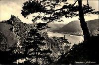 Dürnstein in der Wachau Niederösterreich s/w AK 1959 Blick in das Donau Tal Burg