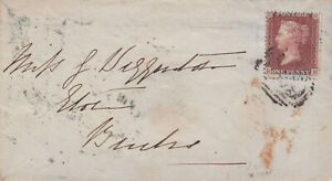 1858 QV WINDSOR TO BUCKINGHAMSHIRE COVER WITH A 1d PENNY RED STAMP 99p START!