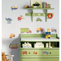 CARS TRUCKS 26 Wall Stickers Decor Decals Room Decor Nursery Planes Tractor NEW