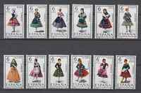 SPAIN (1967/71) - MNH - 53 REGIONAL COSTUMES COMPLETE - 5 PICTURES