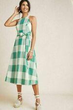 NWT Anthropologie Greta Gingham Dress Size 16