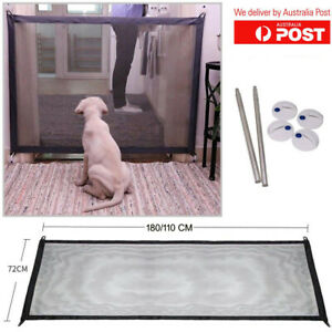 Magic Gate Portable Folding Safe Guard Install Mesh Met Home Office for Pets Kid