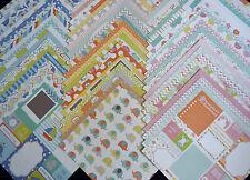 60 12X12 Scrapbook Paper Baby Boy Girl Nursery Newborn Infant Recollections