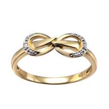 9K Yellow Gold Ladies Stunning Diamond Infinity Ring
