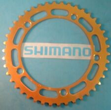 Shimano 42T BMX / Fixie Gold Chainring- NEW / NOS Vintage W-Cut- 130BCD-