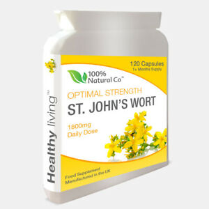 St Johns Wort - 120 Capsules - 100% Natural - Sleep, Anxiety, Depression