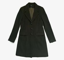 Isabella Oliver Maternity Wool Over Coat Dark Green Cashmere Sz B Small UK 8/10
