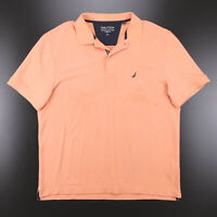 NAUTICA  Orange Classic Short Sleeve Polo Shirt Mens XL