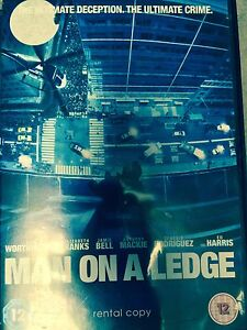 Man on Ledge DVD 2012 Action Movie with Sam Worthington Rental Version