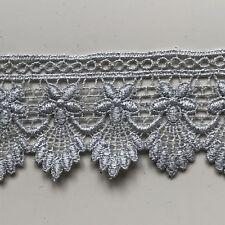 """Laces Galore~Silver Flower GUIPURE/VENISE Lace  Trim 2""""/5cm"""