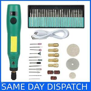 USB Mini Electric Grinder Drill Engraving Pen Grinding Rotary Tool Set UK