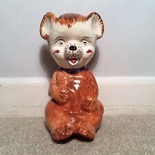 Vintage Price Kensington Ceramic Bear Moneybox 1950s 1960s Kitsch Cute VGC