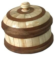 Hand crafted wood and bone jewellery box