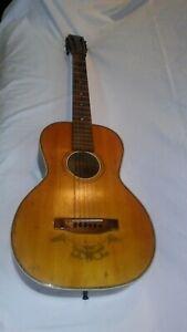 Vintage 1920s-30s Unmarked Regal Supertone Other Acoustic Parlor Guitar!