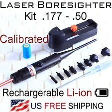 Red Laser Boresighter Kit .177 -.50 Caliber Li-ion Battery w charger Boresighter