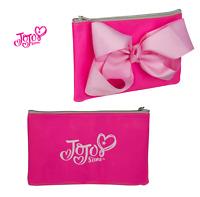 Official JoJo Siwa Bow Shaped Glitter Pink Pencil Case Make Up Bag Fast
