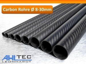 Carbon Rohr Ø 8-30mm / CFK Tube 3K Köper matt 1000mm / Hobbyline