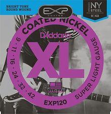 D'Addario EXP120 Electric Guitar Strings Super Light Coated