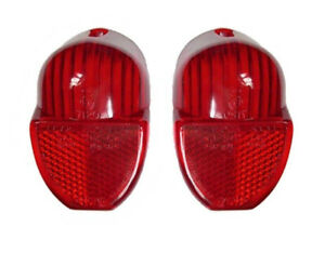 New Pair Rear Brake Tail Lamp Lenses Triumph Spitfire GT6 1962-70 Red Lens