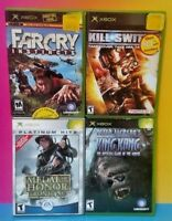 4 Games Lot Microsoft Xbox OG Kill Switch King Kong Far Cry Medal of Honor Front