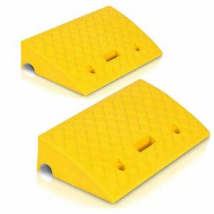 Pyle PCRBDR27 Car/Truck Flexible Plastic Curbside Driveway Ramp Kit (2 Pack)