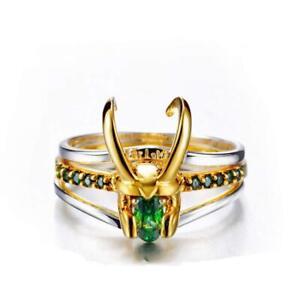 Avengers Superhero Thor Loki Helmet Pack of 3 Stacking Rings Women Men Jewelry