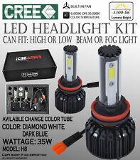 JDM H8 6000K 30000K 12V 35W CANBUS CREE COB LED Fog Light Bulb White Blue 3300LM
