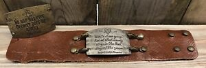 Lenny & Eva New Sentiment Large Antique Silver And Brass Anne Frank With Cuff