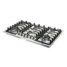 "34"" Stainless Steel Built-In 6 Burners Cooktop Stove NG LPG Hob Cooker,Top Brand"